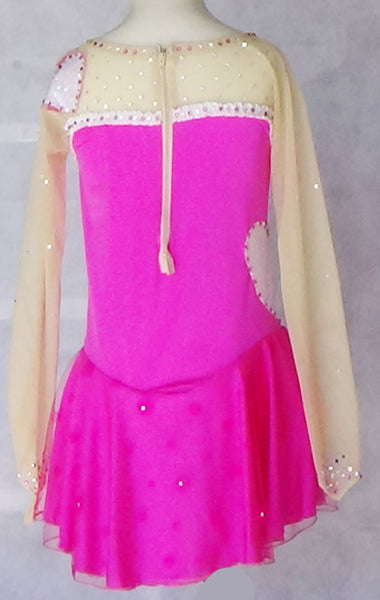 Skating Dress - Pink with Tan Mesh - Child Size Large