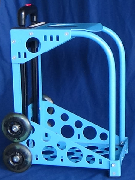 Zuca Bag Frame/Flashing Wheel Set --  Light Blue - Used/Good Condition