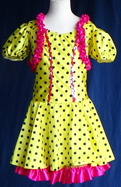 Skating Dress / Costume - Good Golly Miss Molly - Pre Owned / Great Condition - Child Large
