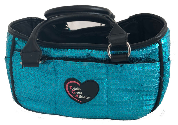 Ocean Blue Sequined TGA Figure Skating Rink Tote