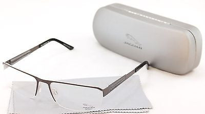 Jaguar Eyeglasses Frame 33556-827 Brown Gray Metal Germany Made 57-17-135 - Frame Bay