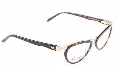 John Galliano Eyeglasses Frame JG5008 052 Metal Plastic Brown Gold Italy Made