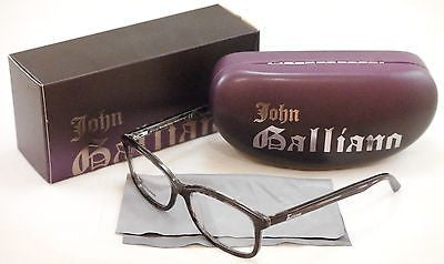 Image of John Galliano Eyeglasses Frame JG5011 055 Plastic Havana Black Over News Italy