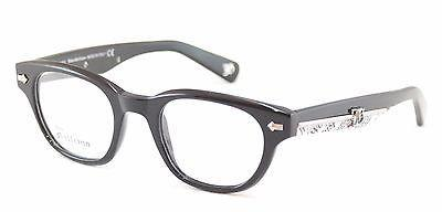 John Galliano Eyeglasses Frame JG5018 001 Plastic Black Over Newspaper Italy