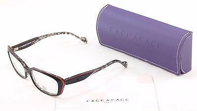 Face A Face Eyeglasses Frame Roxan 4 315 Black Red Plastic France Hand Made - Frame Bay