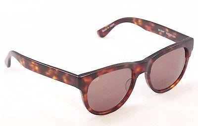 Image of Sama Sunglasses Frame Marlowe Brown Tortoise Lenses Plastic Japan Made 53-20-145