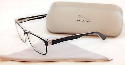 Jaguar Eyeglasses Frame 39107-8738 Matte Black Crystal Plastic Germany 51-15-140 - Frame Bay