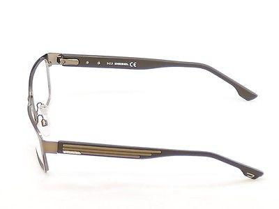 Diesel Eyeglasses Frame DL5014 048 Brown Bronze Metal Plastic 54-16-140