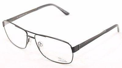 Image of Jaguar Eyeglasses Frame 33068-610 Shiny Black Metal Germany Made 56-15-145