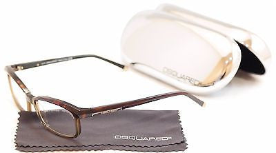 Image of Dsquared2 Eyeglasses Frame DQ5034 056 Havana Brown Plastic Italy Made 53-17-140