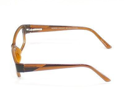 Modern Eyeglasses Frame Concert Plastic Brown Caramel China Made 53-18-135