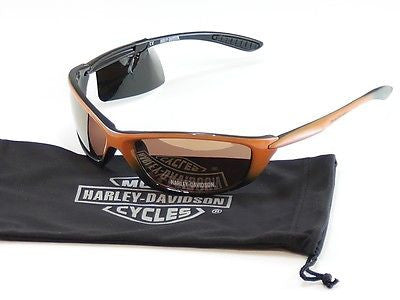 Harley-Davidson Sunglasses Orange Plastic HDS-616 OR-1F China Made 62-18-130 - Frame Bay