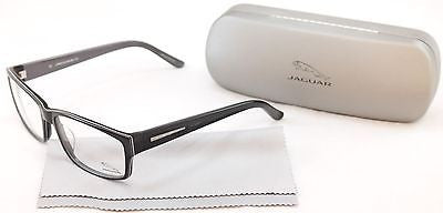 Jaguar Eyeglasses Frame 31011 6287 Black Grey Plastic Germany Made 57-16-135