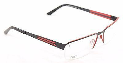 Jaguar Eyeglasses Frame 33556 824 Black Red Metal Germany Made 57-17-135