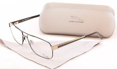 Jaguar Eyeglasses Frame 33068 854 Gold Gray Metal High Quality Germany 60-15-145 - Frame Bay
