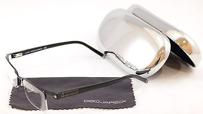 Dsquared2 Eyeglasses Frame DQ5069 002 Black Metal Plastic High Quality 53-18-140 - Frame Bay