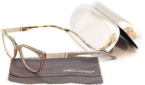 Dsquared2 Eyeglasses Frame DQ5102 020 Gray Brown Plastic Italy Made 51-19-145