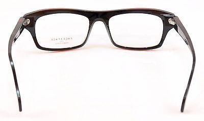 Face A Face Eyeglasses Frame Print 3 2099 Black Red Plastic France Hand Made