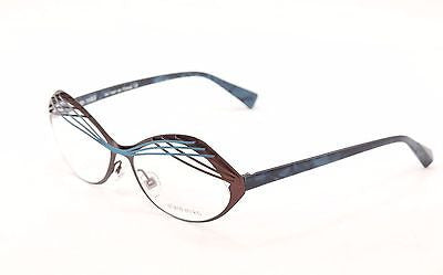 Alain Mikli Eyeglasses AL1290 MO4Z Brown Blue Metal Plastic France 53-15-140
