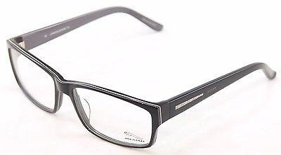 Image of Jaguar Eyeglasses Frame 31011 6287 Black Grey Plastic Germany Made 57-16-135