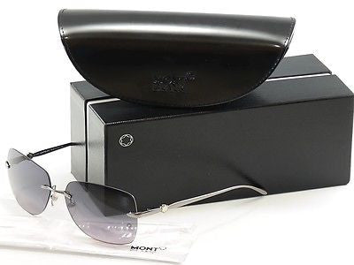 Mont Blanc Sunglasses MB354S 12B Ruthenium Gradient Woman Italy Made 100% UV - Frame Bay