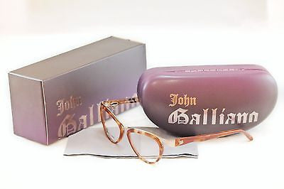 John Galliano Eyeglasses Frame JG5008 053 Metal Plastic Light Brown Gold Italy