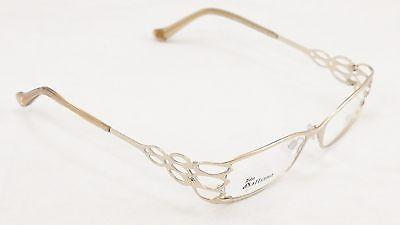 John Galliano Eyeglasses Frame women JG5002 028 Metal Gold Italy Made 52-15-135