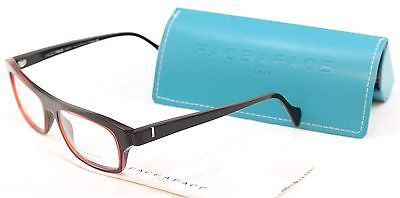 Face A Face Eyeglasses Frame Print 3 2099 Black Red Plastic France Hand Made - Frame Bay