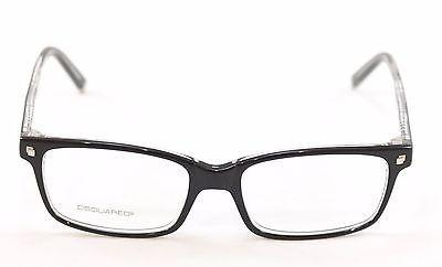 Image of Dsquared2 Eyeglasses Frame DQ5036 003 Black High Quality Plastic Italy 54-17-145