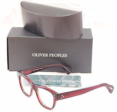 Image of Oliver Peoples Eyeglasses Frame OV5205 1053 Parsons Red Havana Italy 48-18-145