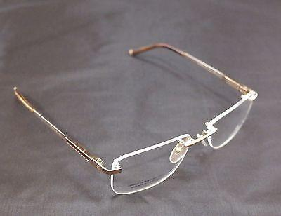 Charriol Eyeglasses Frame Rimless PC7397A C2 Gold Titanium France Made 56-18-140