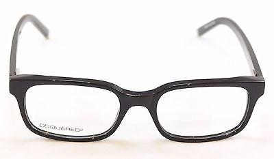 Image of Dsquared2 Eyeglasses Frame DQ5024 001 Black Plastic High Quality 51-18-140