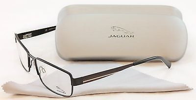 Jaguar Eyeglasses Frame 33058-818 Black Metal High Quality Germany 57-17-140 - Frame Bay