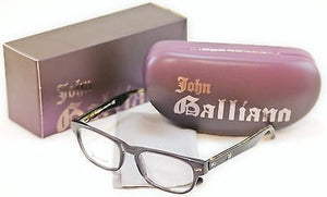 John Galliano Eyeglasses Frame JG5015 020 Plastic Black Italy Made 52-19-145