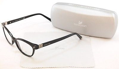 Image of Swarovski Eyeglasses Frame Active SW5003 001 Black Plastic Italy Made 52-16-140