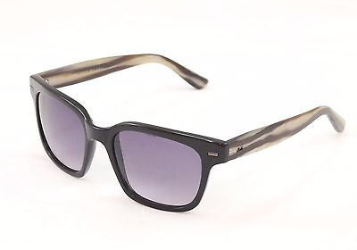 Image of Sama Sunglasses Frame Nero Black Horn Lenses Plastic Japan Made 54-19-137