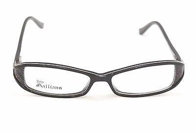 John Galliano Eyeglasses Frame JG5004 005 Plastic Black White Italy 54-15-130