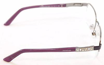 Image of Swarovski Eyeglasses Frame Cyberia SW5068 Dark Ruthenium Italy Made 53-17-135