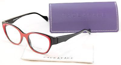 Face A Face EPOCA 2 3016 Eyeglasses Red Black Plastic France Hand Made Frame - Frame Bay