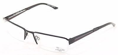 Image of Jaguar Eyeglasses Frame 33542-610 Black Red Accent Metal Germany Made 56-18-135