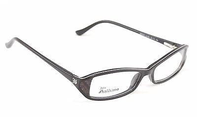 Image of John Galliano Eyeglasses Frame JG5004 005 Plastic Black White Italy 54-15-130