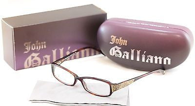 John Galliano Eyeglasses Frame JG5009 052 Plastic Brown Italy Made 53-15-135