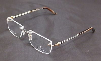 Charriol Eyeglasses Frame PC7431A C1 Gold Plated 22KT France Made 54-18-140