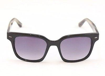 Sama Sunglasses Frame Nero Black Horn Lenses Plastic Japan Made 54-19-137
