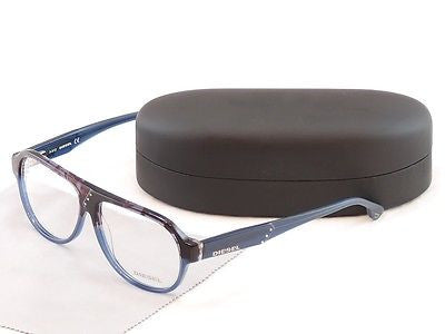 Diesel Eyeglasses Frame DL5003 050 Plastic Black Blue Top Quality 56-13-145 - Frame Bay
