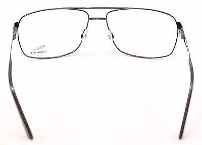 Jaguar Eyeglasses Frame 33068-610 Shiny Black Metal Germany Made 56-15-145