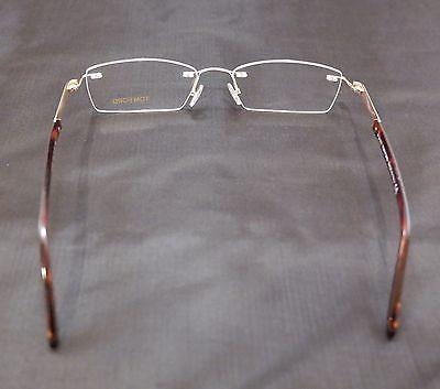 Tom Ford Eyeglasses Frame TF5199 028 Gold Metal Plastic Italy Made 55-18-140