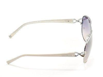 Mont Blanc Sunglasses MB468S 12B Silver Beige Gradient Woman Italy Made 100% UV