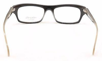 Face A Face Eyeglasses Print 3 2070 Black Clear Beige Plastic France Hand Made