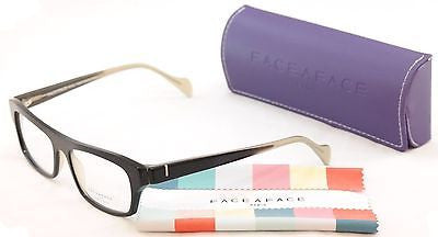 Face A Face Eyeglasses Frame Print 3 2070 Black Clear Beige Plastic France Hand Made - Frame Bay